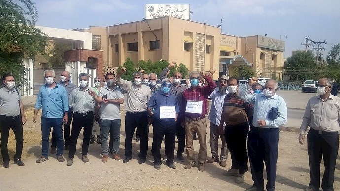 Retirees in Ahwaz continue their protests—August 26, 2020