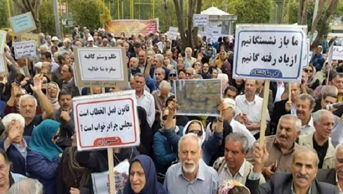 Iran - Protests of retirees