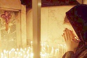 biddende christin